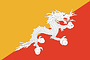 Nationalflagge Bhutan