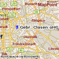 Übersichtskarte Düsseldorf