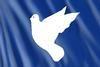 Fahne: Friedenstaube
