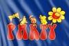 Fahne: Partymotiv