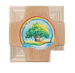 Holzkreuz Regenbogen+Lebensbaum