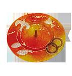 Glasleuchter 4 Symbole