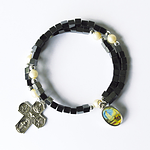 Armband Hämatith+ Kreuz