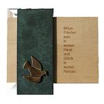 Haussegen Holz+Bronze