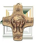 Gottes Hand geborgen Kommunionkreuz